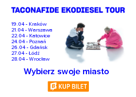 Taconafide - Ekodiesel Tour - Trasa Koncertowa 2018