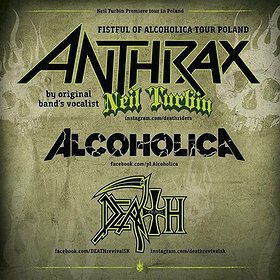 Koncerty: NEIL TURBIN (voc ANTHRAX), Alcoholica, Death Revival