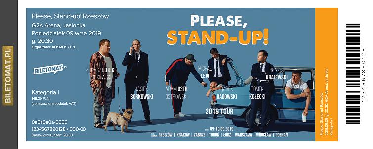 Zamówienie biletów na Stand-up Please, Stand-up! Rzeszów - G2A Arena