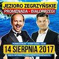 Zenon Martyniuk i Sławomir nad Jeziorem Zegrzyńskim