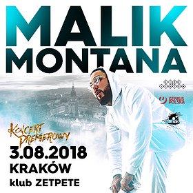 Koncerty: Malik Montana @ Zetpete, Kraków