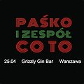 Koncerty: Paśko i zespół Co To, Warszawa