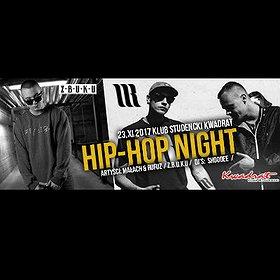 Koncerty: Hip-Hop Night - Małach & Rufuz,  Z.B.U.K.U,  dj: Shoodee