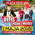 Koncerty: Majówka 2018 na Plaży Patelnia! - Defis, Piękni i Młodzi , Płock