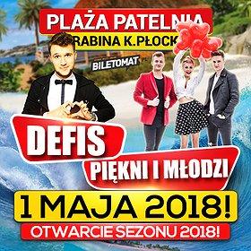Koncerty: Majówka 2018 na Plaży Patelnia! - Defis, Piękni i Młodzi