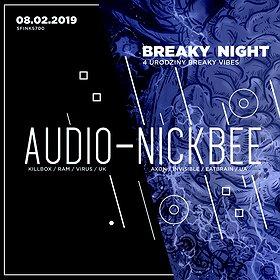 Imprezy: Breaky Night with Audio & NickBee | Sfinks700